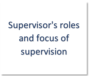 Supervisors roles and focus